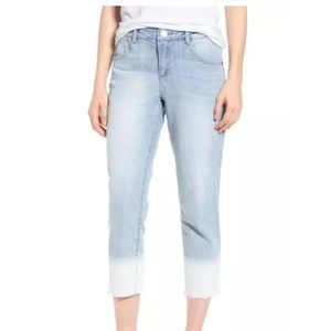 Wit & Wisdom flex-Excellent acid wash crop jeans